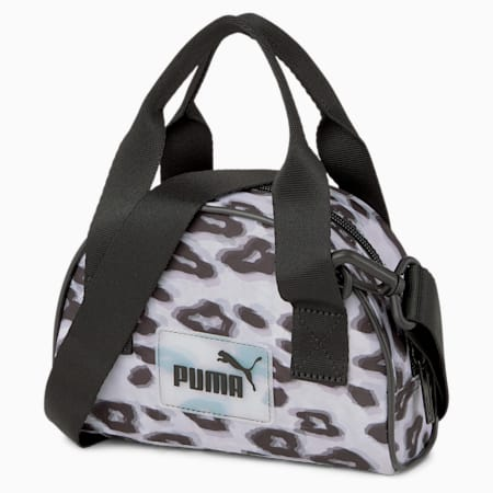Pop Mini Women's Grip Bag, Puma Black-animal graphic, small-IND