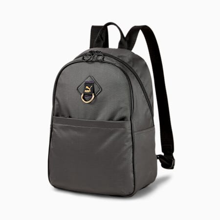 Time Women's Backpack, Puma Black-iridescent, small