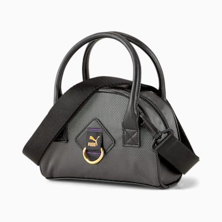 Time Mini Damen Grip-Tasche, Puma Black-iridescent, small