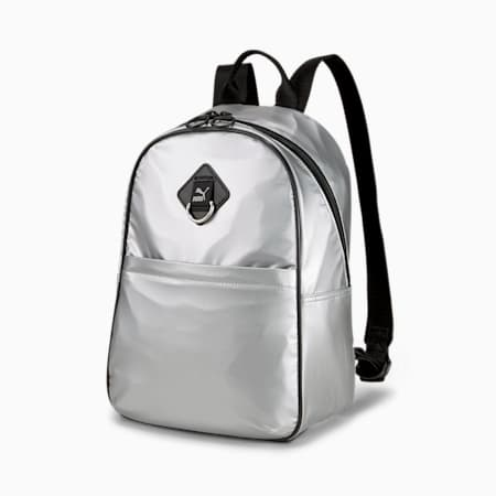 Time Women's Backpack, Silver, small-IND