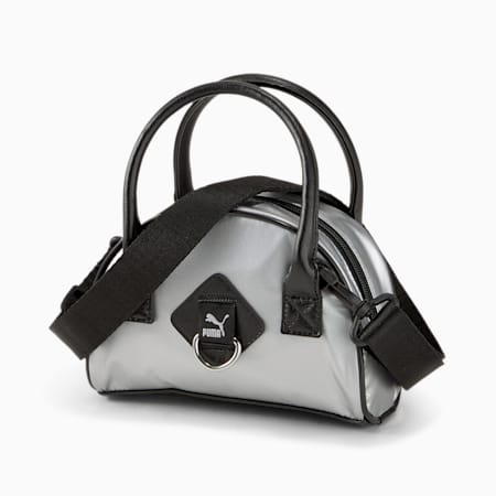 Time Mini Women's Grip Bag, Silver, small