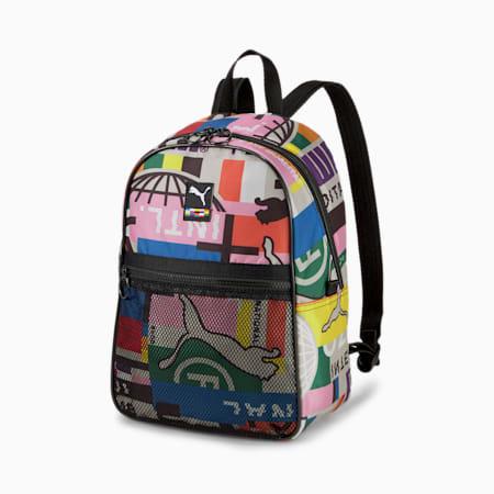 Women's Street Backpack, Puma Black-AOP, small