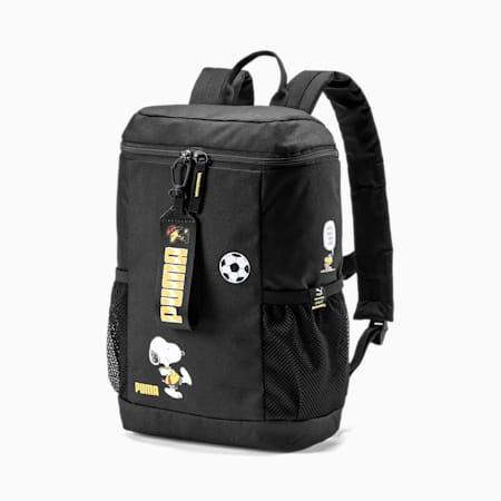 PUMA x PEANUTS Youth Backpack, Puma Black, small-IND