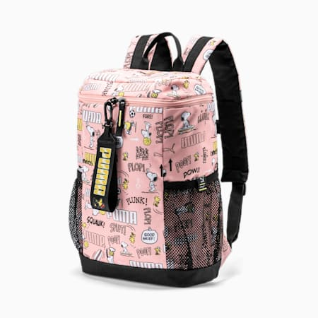 PUMA x PEANUTS Youth Backpack, Apricot Blush, small-IND