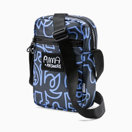 PUMA x MR DOODLE Portable Bag, Puma Black-AOP, small