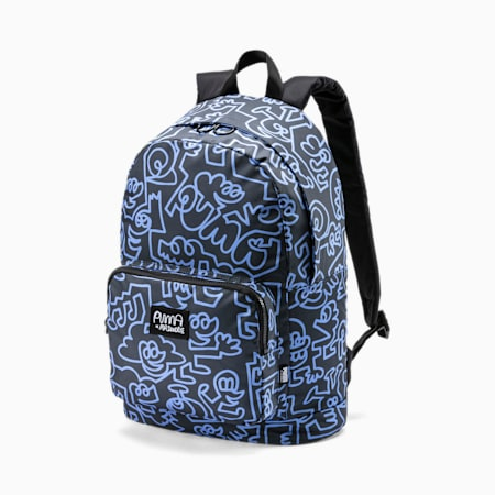 PUMA x MR DOODLE Unisex Backpack, Puma Black-AOP, small-IND