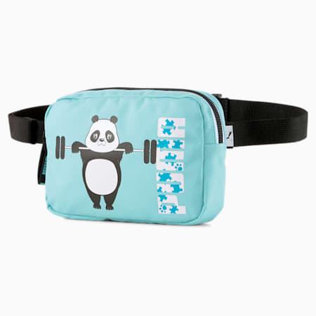 Animals Youth Waist Bag, Angel Blue-PANDA, small-SEA