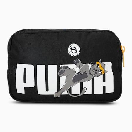 Animals Kid's Waist Bag, Puma Black-PUMA, small-IND