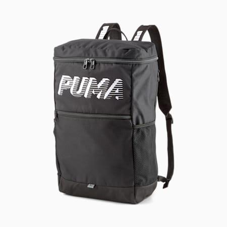 EvoEssentials Box Backpack, Puma Black, small-IND