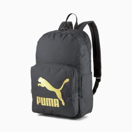 Originals Urban Backpack, Puma Black-Gold, small-IND