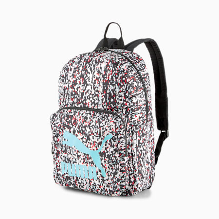 Originals Urban Backpack, Puma Black-Blur AOP, small-IND