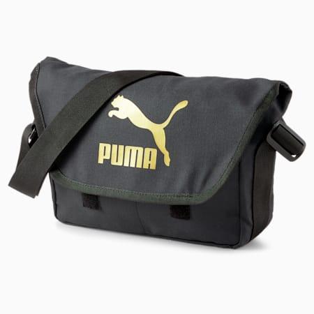 Originals Urban Messenger Bag, Puma Black-Gold, small