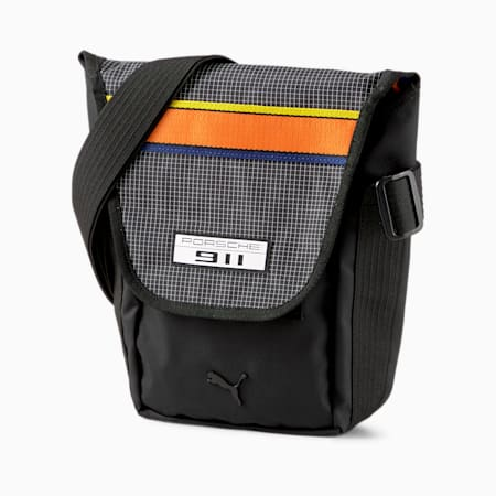 Porsche Legacy Small Messenger Bag, Puma Black, small-IND