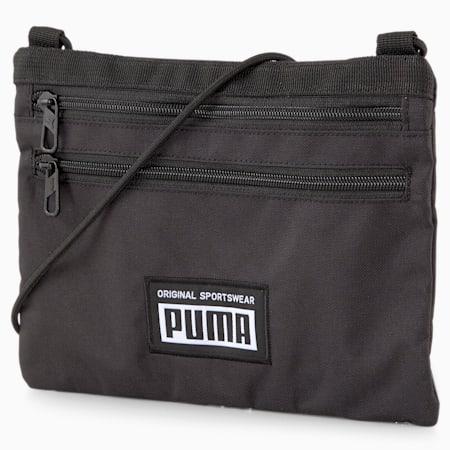 PUMA Academy Sacoche Unisex Backpack, Puma Black, small-IND