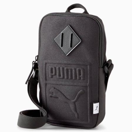 PUMA Portable Unisex Shoulder Bag, Puma Black, small-IND
