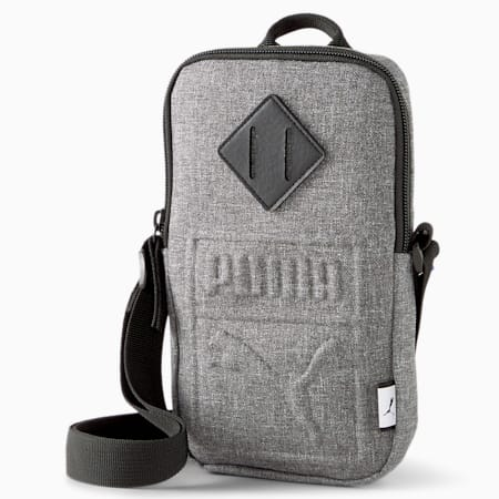 Portable Shoulder Bag, Medium Gray Heather, small-GBR