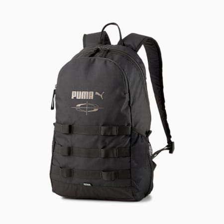 PUMA Style Unisex Backpack, Puma Black, small-IND