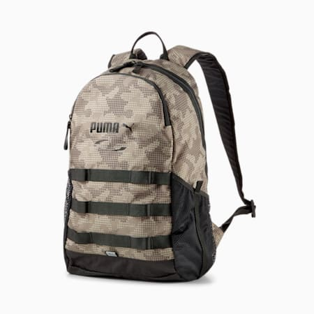 PUMA Style Unisex Backpack, Shitake-Camo AOP, small-IND