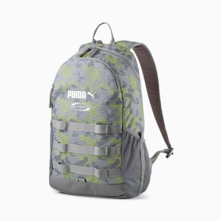 PUMA Style Unisex Backpack, CASTLEROCK-Camo AOP, small-IND