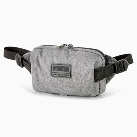 PUMA City Waist Bag, Medium Gray Heather, small