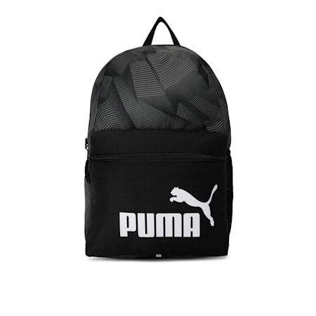 Phase Printed Backpack, Puma Black-Ultra Gray-AOP, small-IND