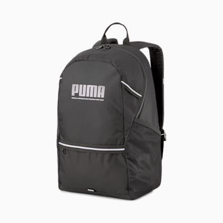 PUMA Plus Unisex Backpack, Puma Black, small-IND