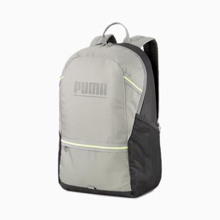 PUMA Plus Unisex Backpack, Ultra Gray-Puma Black, small-IND