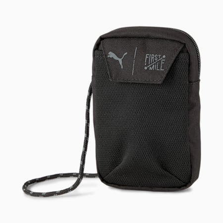 PUMA x FIRST MILE Training Neck Wallet, Puma Black, small-GBR