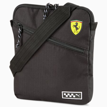 Scuderia Ferrari Shoulder Bag, Puma Black, small-SEA