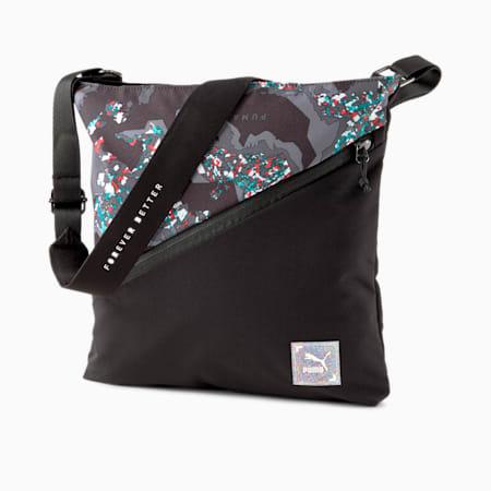 RE.GEN Shoulder Bag, Anthracite-AOP, small