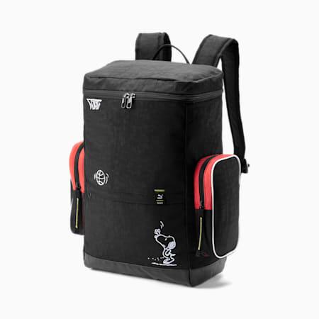 PUMA x PEANUTS Backpack, Puma Black, small-SEA