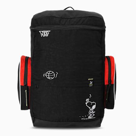 PUMA x PEANUTS Backpack, Puma Black, small-IND