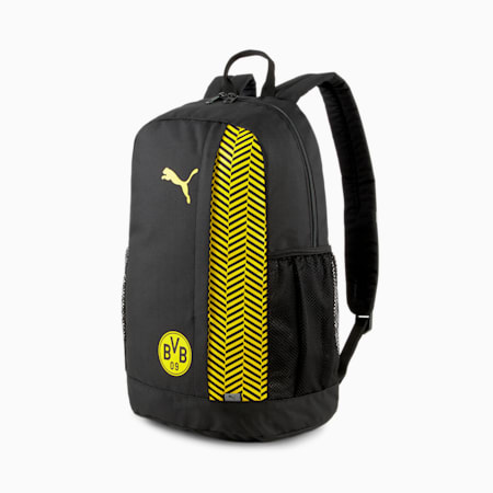 Mochila de fútbol BVB FtblCore Plus, Puma Black-Cyber Yellow, pequeño