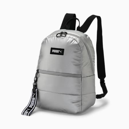 Prime Puffa Women's Backpack, Silver, small