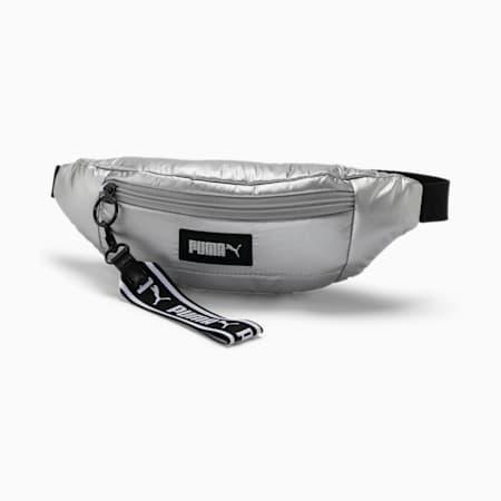 Prime Puffa Women's Waist Bag, Silver, small