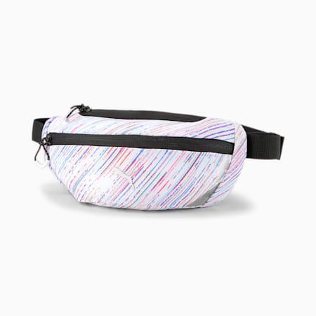 PR Classic Unisex Running Waist Bag, Puma White-spectra, small-IND