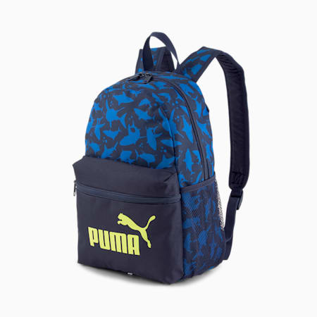 Phase Small Youth Backpack, Peacoat-Shark AOP, small-SEA