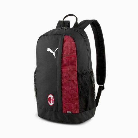 Mochila para fútbol ACM FtblCore Plus, Puma Black-Tango Red, pequeño