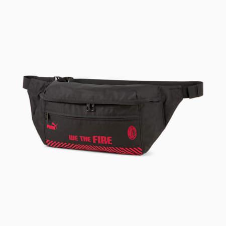 ACM Street Waist Bag, Puma Black-Tango Red, small