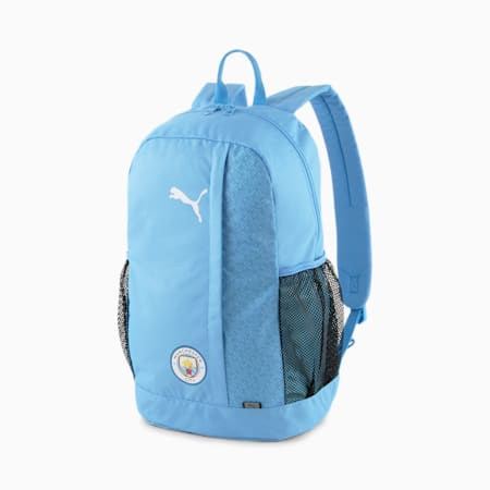 Mochila de fútbol Man City FtblCore Plus, Team Light Blue-Puma White, pequeño