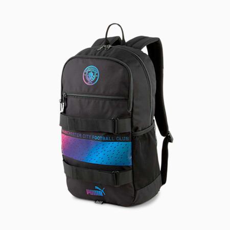 Man City Deck Football Backpack, Puma Black-Beetroot Purple, small