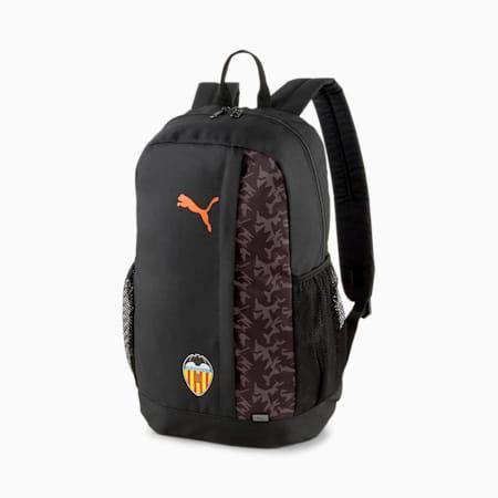 Valencia CF FtblCore Football Backpack Plus, Puma Black-Vibrant Orange, small