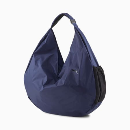 Damska drapowana torba treningowa na siłownię Studio, Elektro Blue, small