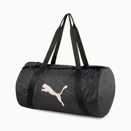 Essentials Women's Training Barrel Bag, Puma Black, small-GBR