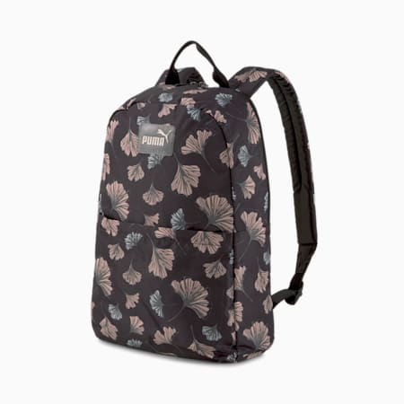 Core Women's Daypack Backpack, Puma Black-AOP, small-IND