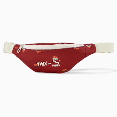 PUMA x TINYCOTTONS Waist Bag, Intense Red-Whisper White, pequeño