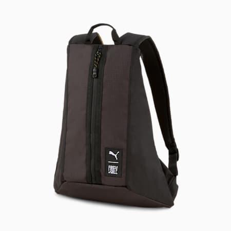 PUMA x FIRST Mile Unisex Backpack, Puma Black, small-IND