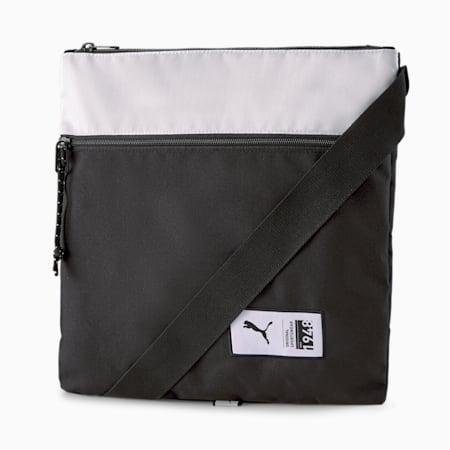 World Sacoche Shoulder Bag, Puma Black-Glacial Blue, small