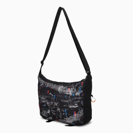 BMW M Motorsport Street Mini Messenger Unisex Shoulder Bag, Puma Black, small-IND