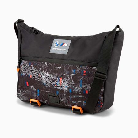 Mini bolso estilo mensajeroBMW MMotorsportStreet, Puma Black, pequeño